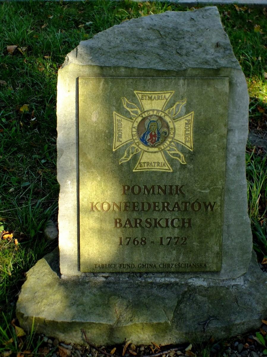 Pomnik Konfederatów Barskich na cmentarzu w Nowym Żmigrodzie.