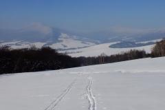 Widok na Lackową, Przełęcz Pułaskiego i Dlhy Dil z Ostrą Górą i Cigelką