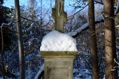 Jeden z krzyżu nagrobnych na cmentarzu łemkowskich.