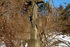 Jeden z najwyższych krzyży przydrożnych w Świerzowej Ruskiej autorstwa Mateja Cyrkota. Dwu tonowy i wysoki na 460  Fundator Iwan Kańczuga 1883 r. Kańczuga 1883 rok