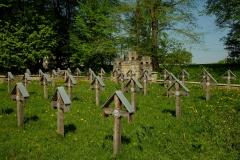Sektor austro-węgierski cmentarza wojennego nr 3 w Ożennej.