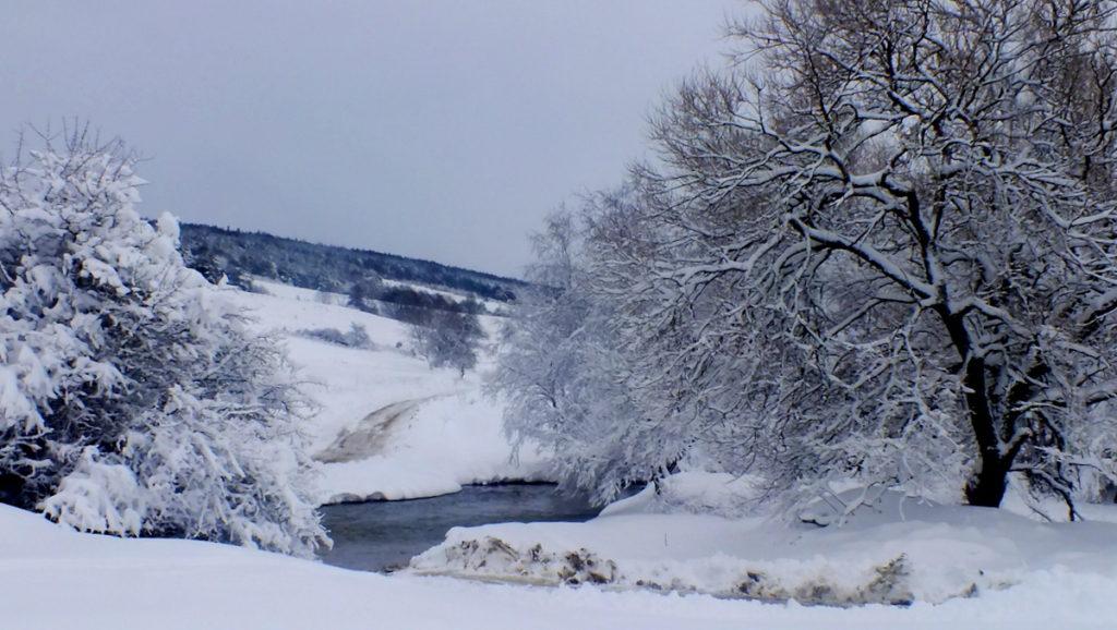 Bród na Wisłoce i droga do kolejnej, wyludnionej wioski Długie.