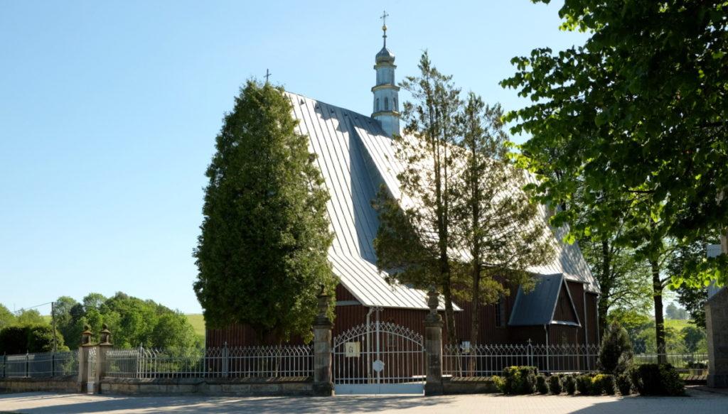 Olszyny - kościół p.w. Podwyższenia Krzyża Świętego z 1900 r.