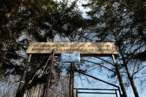 Brama cmentarna w Bednarce.