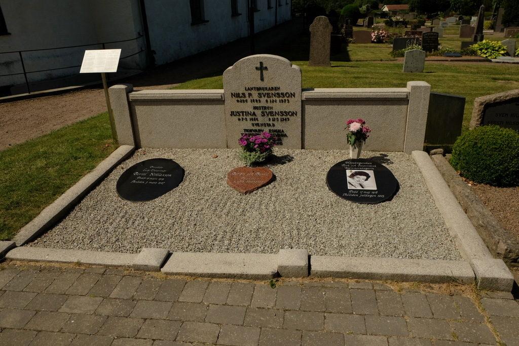 Miejsce pochówku Birgit Nilsson w grobie jej rodziców.