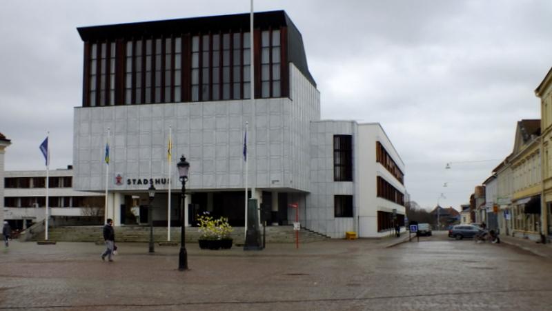 Nowy budynek miejskiego ratusza w Nykoping.