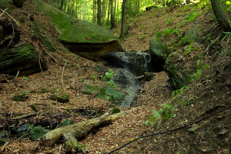 Mały wodospad na potoku.